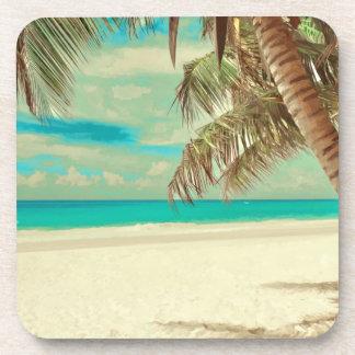 PixDezines vintage beach Drink Coaster