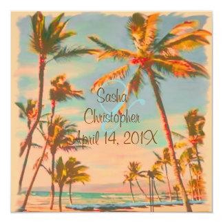 PixDezines Vintage Beach Scence/Aloha/Luau Custom Announcement