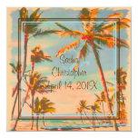 PixDezines Vintage Beach Scence/Aloha/Luau Custom Invites