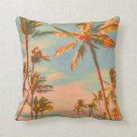 PixDezines vintage beach scene Pillow