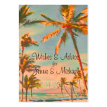 PixDezines Vintage Beach Scene Wishes + Advice Business Cards