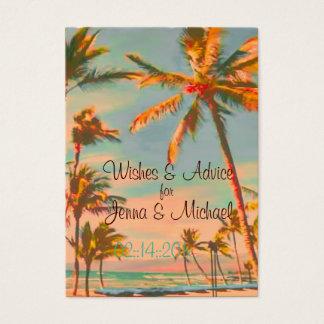 PixDezines Vintage Beach Scene Wishes + Advice Business Card