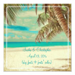 PixDezines vintage beach, tropical paradise Invites