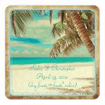 PixDezines vintage beach, tropical paradise Custom Invite