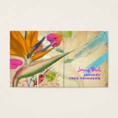 Pixdezines Vintage Bird Of Paradise ♥♥♥ Business Card at Zazzle