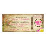 PixDezines Vintage Boarding Pass/Bird of Paradise Card