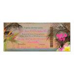 PixDezines vintage boarding pass/bird of paradise 4x9.25 Paper Invitation Card