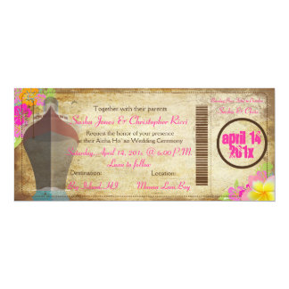 PixDezines vintage boarding pass/love boat Card