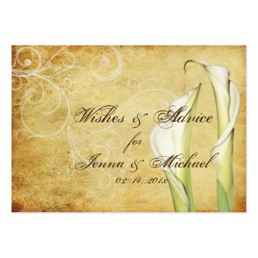 PixDezines Vintage Calla Lilies Advice Cards Business Card Templates