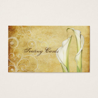 PixDezines Vintage Calla Lillies, Seating Cards