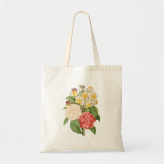 PixDezines Vintage Camelia/Daffodils/Redoute Tote Bag