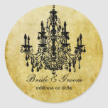 PixDezines vintage chandelier Round Sticker