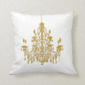 PixDezines vintage chandeliers/DIY background Throw Pillow