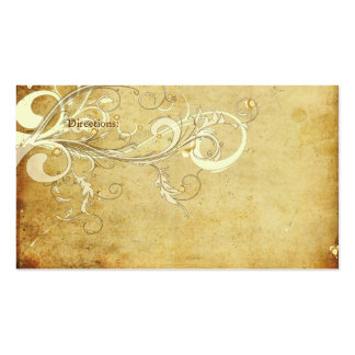 PixDezines vintage cream swirls Business Card Template