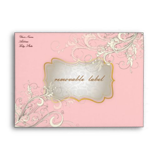 PixDezines Vintage Cream Swirls, cupcake A7 Envelopes