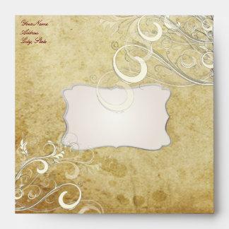 PixDezines vintage cream swirls Envelope