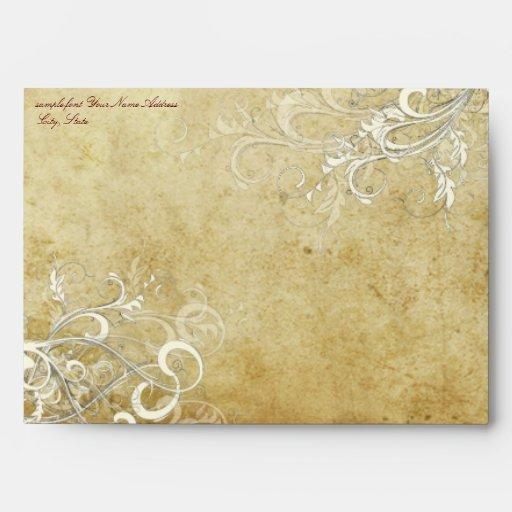 PixDezines Vintage Cream Swirls envelopes