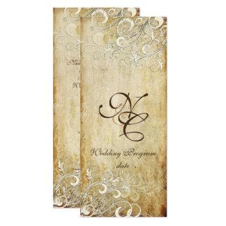 PixDezines Vintage Cream Swirls/Faux Parchment Card