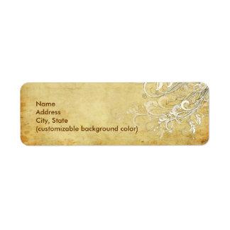 PixDezines Vintage Cream Swirls Custom Return Address Labels