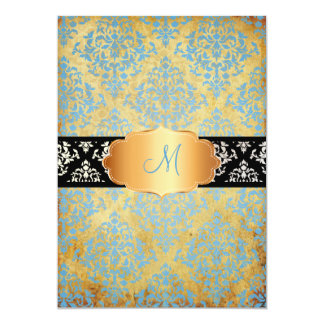 PixDezines vintage denim blue josephine Damask Card