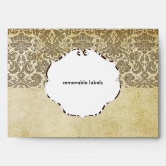 PixDezines Vintage Desiree Damask/Lace Envelopes