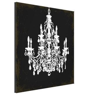 PixDezines vintage DIY color/crystal chandelier Canvas Print