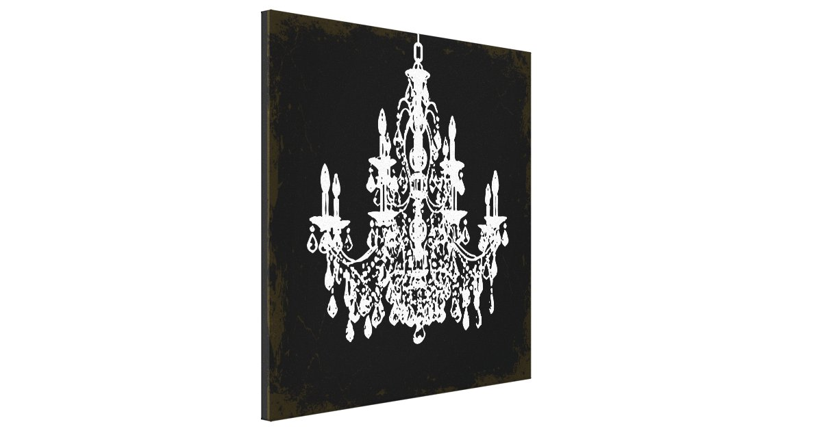 PixDezines vintage DIY colorcrystal chandelier Canvas Print – Color Chandelier