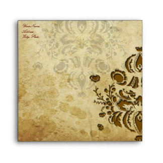 PixDezines Vintage Dolcè Damask Envelope