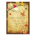 PixDezines vintage fall invitations/maple leaves 5x7 Paper Invitation Card