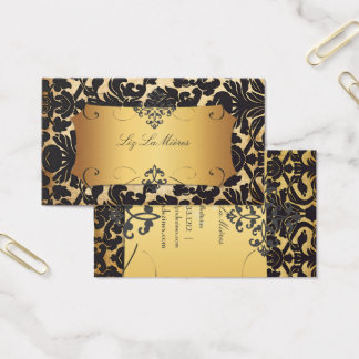 PixDezines VINTAGE FLORA DAMASK/FAUX PARCHMENT Business Card