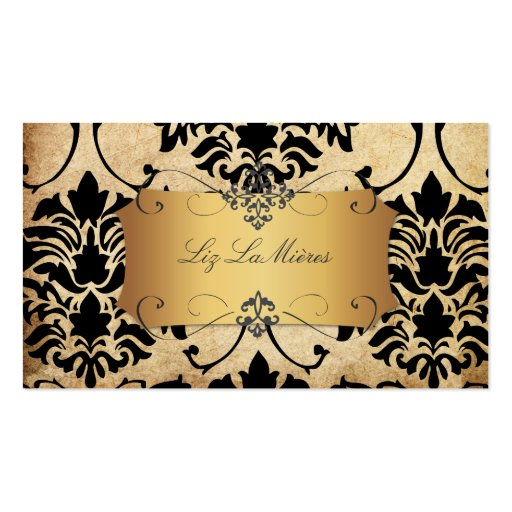 PixDezines Vintage Florentius Damask Double-Sided Standard Business Cards (Pack Of 100)