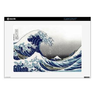 "PixDezines Vintage, Great Wave, Hokusai 葛飾北斎の神奈川沖浪 15"" Laptop Skins"