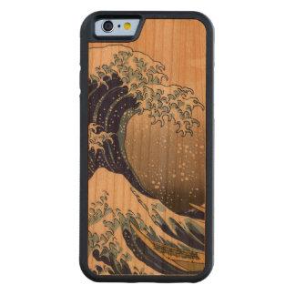 PixDezines Vintage, Great Wave, Hokusai 葛飾北斎の神奈川沖浪 Carved® Cherry iPhone 6 Bumper