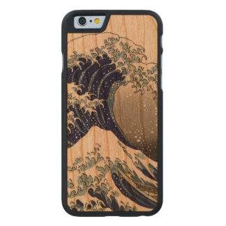 PixDezines Vintage, Great Wave, Hokusai 葛飾北斎の神奈川沖浪 Carved® Cherry iPhone 6 Slim Case