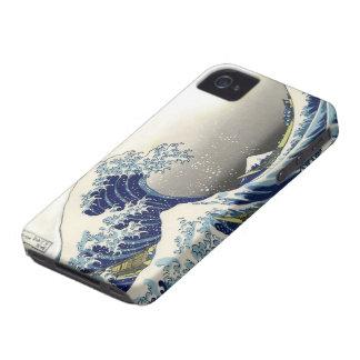 PixDezines Vintage, Great Wave, Hokusai 葛飾北斎の神奈川沖浪 Case-Mate iPhone 4 Cases