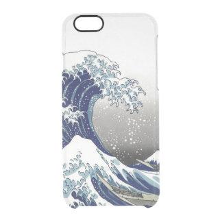 PixDezines Vintage, Great Wave, Hokusai 葛飾北斎の神奈川沖浪 Clear iPhone 6/6S Case