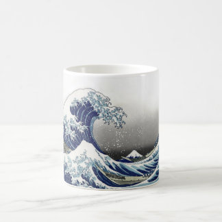 PixDezines Vintage, Great Wave, Hokusai 葛飾北斎の神奈川沖浪 Coffee Mug