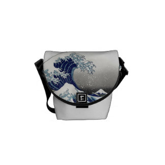 PixDezines Vintage, Great Wave, Hokusai 葛飾北斎の神奈川沖浪 Courier Bag