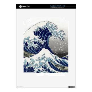 PixDezines Vintage, Great Wave, Hokusai 葛飾北斎の神奈川沖浪 Decal For The iPad 2