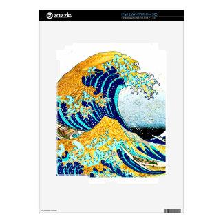 PixDezines Vintage, Great Wave, Hokusai 葛飾北斎の神奈川沖浪 Decals For The iPad 2