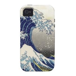 PixDezines Vintage, Great Wave, Hokusai 葛飾北斎の神奈川沖浪 iPhone 4/4S Cases