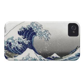 PixDezines Vintage, Great Wave, Hokusai 葛飾北斎の神奈川沖浪 iPhone 4 Case
