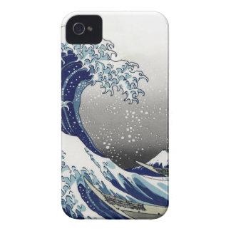 PixDezines Vintage, Great Wave, Hokusai 葛飾北斎の神奈川沖浪 iPhone 4 Cover