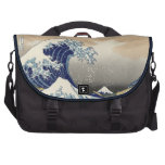 PixDezines Vintage, Great Wave, Hokusai 葛飾北斎の神奈川沖浪 Laptop Bags