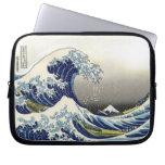 PixDezines Vintage, Great Wave, Hokusai 葛飾北斎の神奈川沖浪 Laptop Sleeve