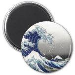 PixDezines Vintage, Great Wave, Hokusai 葛飾北斎の神奈川沖浪 Magnet