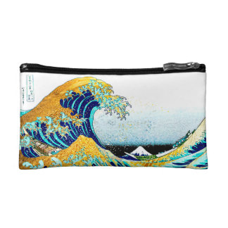PixDezines Vintage, Great Wave, Hokusai 葛飾北斎の神奈川沖浪 Makeup Bag