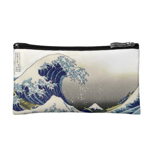 PixDezines Vintage, Great Wave, Hokusai 葛飾北斎の神奈川沖浪 Makeup Bag