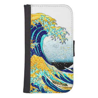 PixDezines Vintage, Great Wave, Hokusai 葛飾北斎の神奈川沖浪 Phone Wallet
