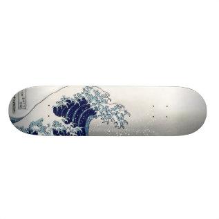 Pixdezines Vintage, Great Wave, Hokusai 葛飾北斎の神奈川沖浪 Skateboard at Zazzle
